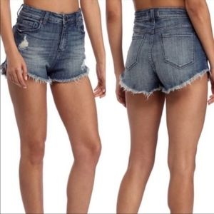 Eunina distressed denim shorts
